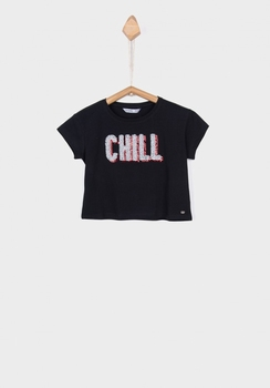 Tiffosi short t-shirt Blati Chill zwart  128